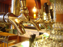 Bar taps - bars in the United States start serving bourbon whisky on tap
