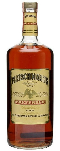 Fleischmann's Preferred Blended Whiskey Bottled 1970s