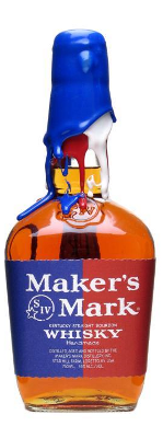 Maker's Mark bourbon whisky Rock the Vote edition