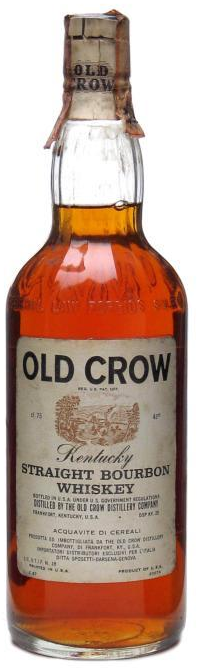 Old Crow Bottled in the 1970s bourbon whisky