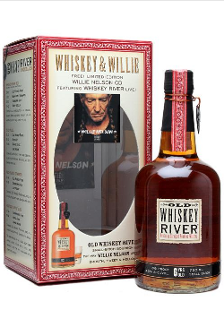 Old Whiskey River 6 Year Old with Willie Nelson CD bourbon whisky