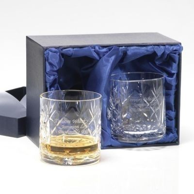 Personalised Cut Crystal Whisky Tumblers