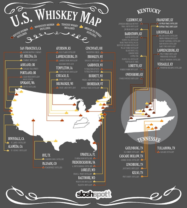 US Whisky Map
